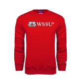 Red Fleece Crew-Ram WSSU