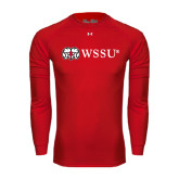 Under Armour Red Long Sleeve Tech Tee-Ram WSSU