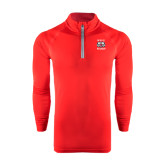 Under Armour Red Tech 1/4 Zip Performance Shirt-Stacked WSSU Rams