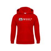 Youth Red Fleece Hoodie-Ram WSSU