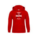 Youth Red Fleece Hood-Baseball Seams