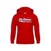 Youth Red Fleece Hood-Softball Script w/ Ball