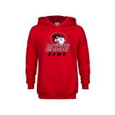 Youth Red Fleece Hoodie-WSSU Rams