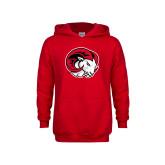 Youth Red Fleece Hoodie-Ram Head