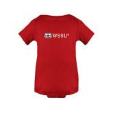 Red Infant Onesie-Ram WSSU