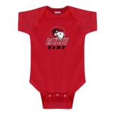 Red Infant Onesie-WSSU Rams