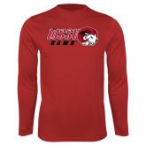 Performance Red Longsleeve Shirt-WSSU Rams Horizontal