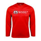 Performance Red Longsleeve Shirt-Ram WSSU