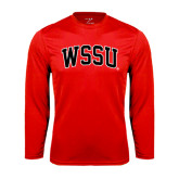 Performance Red Longsleeve Shirt-Arched WSSU