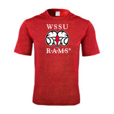 Performance Red Heather Contender Tee-Stacked WSSU Rams