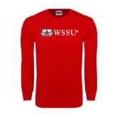 Red Long Sleeve T Shirt-Ram WSSU