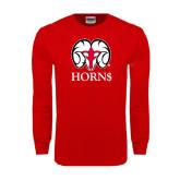 Red Long Sleeve T Shirt-Horn$