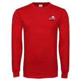Red Long Sleeve T Shirt-WSSU Rams