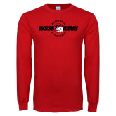 Red Long Sleeve T Shirt-Winston Salem Rams