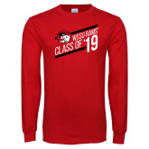 Red Long Sleeve T Shirt-Class of 19