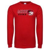 Red Long Sleeve T Shirt-WSSU Rams Distressed