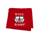 Red Sweatshirt Blanket-Stacked WSSU Rams