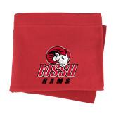 Red Sweatshirt Blanket-WSSU Rams