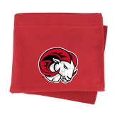 Red Sweatshirt Blanket-Ram Head