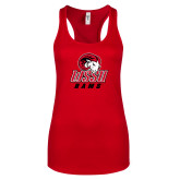 Next Level Ladies Red Ideal Racerback Tank-WSSU Rams