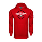 Under Armour Red Performance Sweats Team Hoodie-Basketball Arched w/ Ball