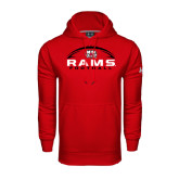 Under Armour Red Performance Sweats Team Hoodie-Football Horizontal Stacked