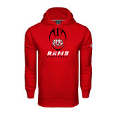 Under Armour Red Performance Sweats Team Hoodie-Football Vertical Stacked