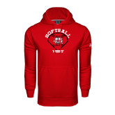 Under Armour Red Performance Sweats Team Hoodie-Softball Diamond and Seams