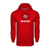Under Armour Red Performance Sweats Team Hoodie-Rams Volleyball Stacked