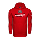 Under Armour Red Performance Sweats Team Hoodie-Volleyball Can You Dig It
