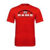 Performance Red Tee-Football Horizontal Stacked