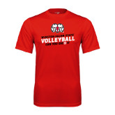 Performance Red Tee-Volleyball Can You Dig It