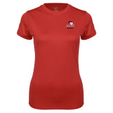 Ladies Syntrel Performance Red Tee-WSSU Rams