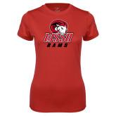 Ladies Syntrel Performance Red Tee-WSSU Rams