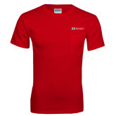 Red T Shirt w/Pocket-Ram WSSU