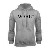 Grey Fleece Hoodie-WSSU Flat