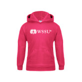 Youth Raspberry Fleece Hood-Ram WSSU
