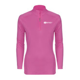 Ladies Syntrel Interlock Raspberry 1/4 Zip-Ram WSSU