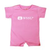 Bubble Gum Pink Infant Romper-Ram WSSU