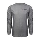 Grey Long Sleeve T Shirt-Ram WSSU