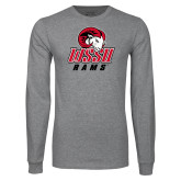 Grey Long Sleeve T Shirt-WSSU Rams