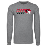 Grey Long Sleeve T Shirt-WSSU Rams Horizontal