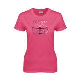 Ladies Fuchsia T Shirt-WSSU Ram Foil