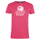 Ladies Fuchsia T Shirt-WSSU Rams