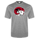 Performance Grey Heather Contender Tee-Ram Head