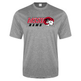 Performance Grey Heather Contender Tee-WSSU Rams Horizontal