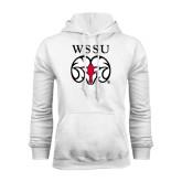 White Fleece Hoodie-WSSU Ram