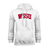 White Fleece Hoodie-Arched WSSU