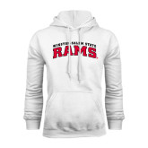 White Fleece Hoodie-Arched Winston-Salem Rams