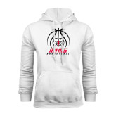 White Fleece Hoodie-Basketball Stacked